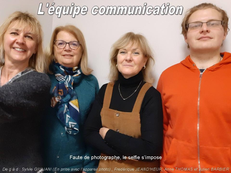 équipe communication décembre 2020