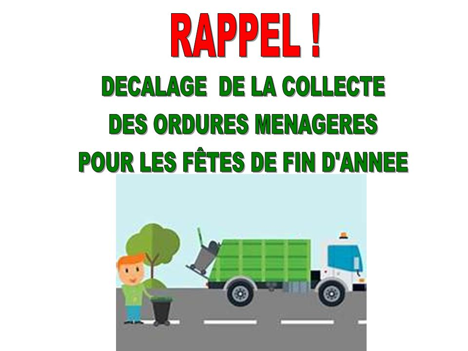 RAPPEL RAMASSAGE ORDURES MÉNAGÈRES