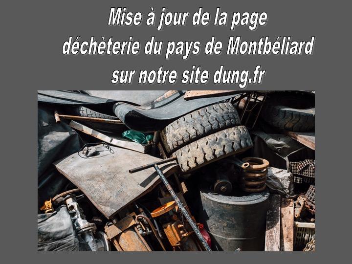 DEMANDES DE CARTE D'ACCÈS AUX DÉCHÈTERIES DU PAYS DE MONTBÉLIARD